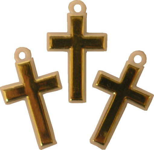 Gold Cross Favor Accents