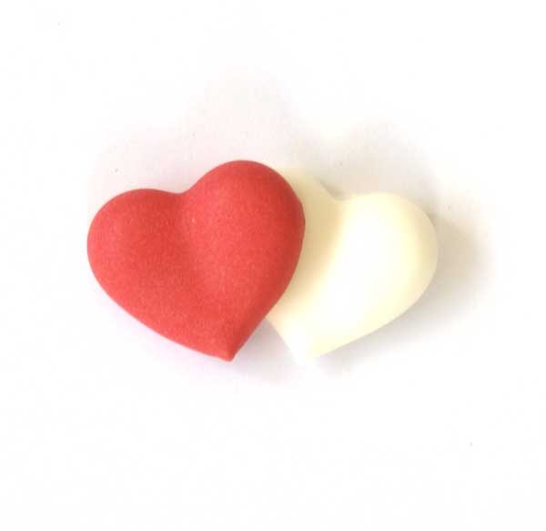 Red & White Double Hearts