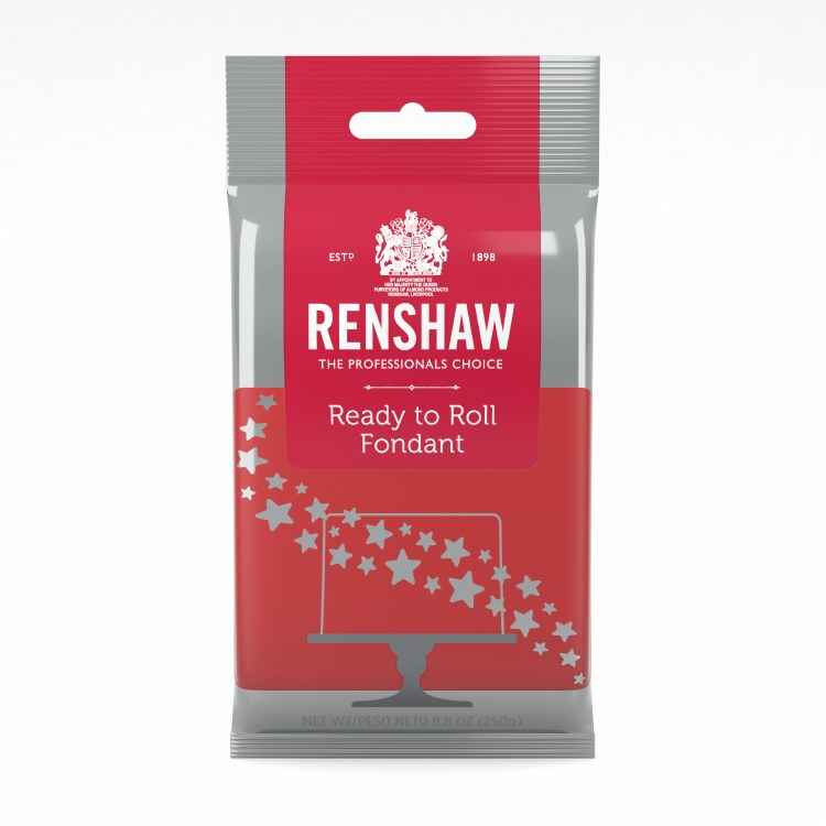 Renshaw Fondant: Red 8.8 Oz