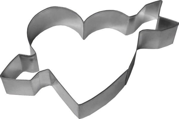 R & M International Metal Cutter: Heart & Arrow