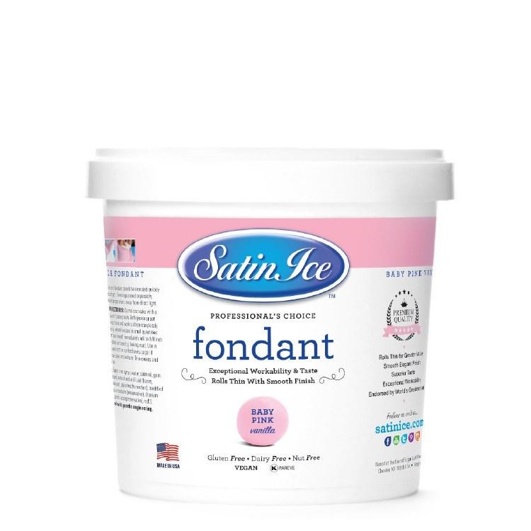 Satin Ice Baby Pink Vanilla Fondant -5lb