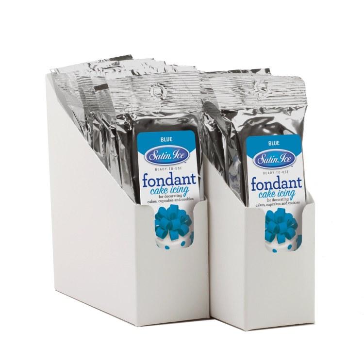 Satin Ice Blue Vanilla Fondant - 4.4oz
