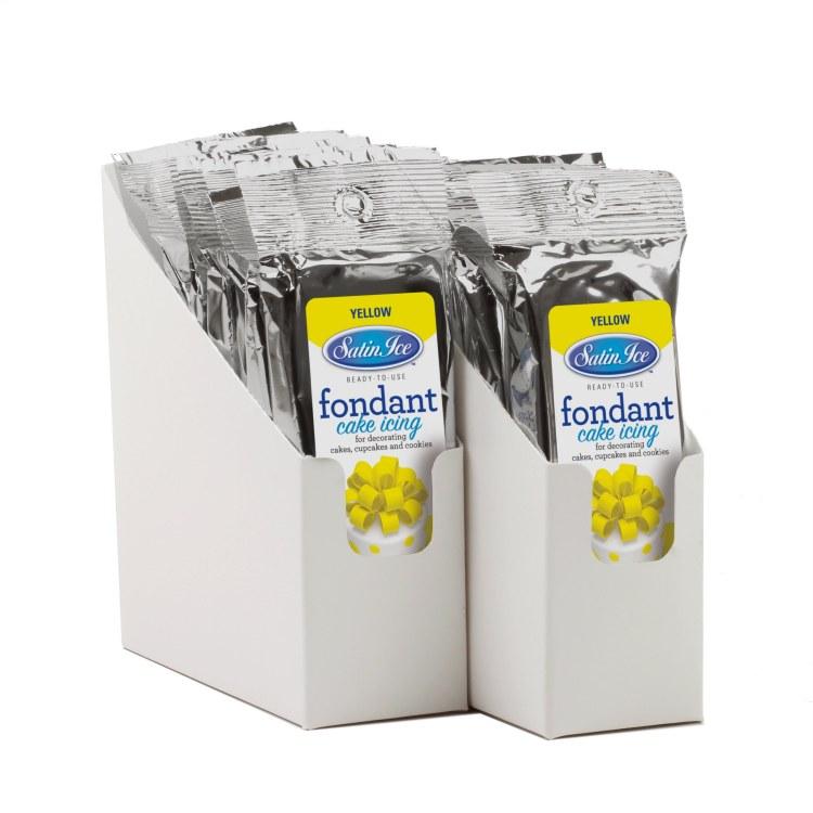 Satin Ice Yellow Vanilla Fondant - 4.4oz