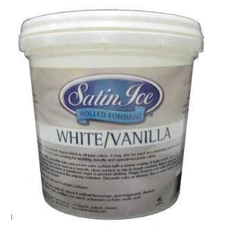 Satin Ice White Vanilla Fondant - 20lb