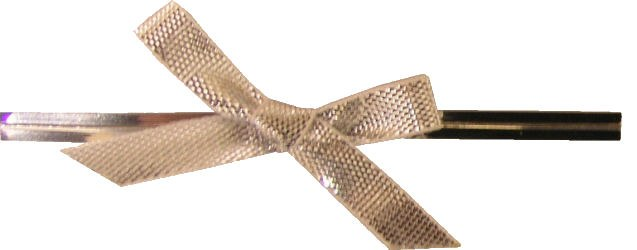 Silver Twistties With Bow (12)