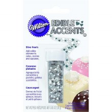 Silver Stars Edible Accents