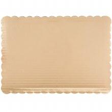 Gold Board 10x14 Scalloped 6/p