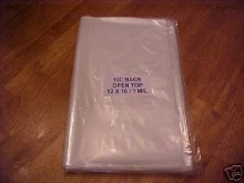 ATECO 12' Clear Disposable Bags/100