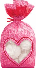 Wilton Pink Damask Bags W Heart Windo