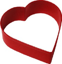 Wilton Metal Cutter: 3' Red Heart