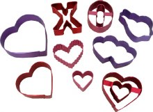 Wilton Valentine Colored Cutter Set/9