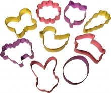 Wilton Easter Colored Cutter Set/9 Pc