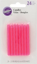 Wilton Candle: Pink 24 /pk