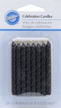 Wilton Candles: Black 24/pk