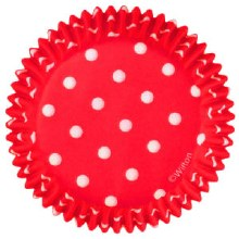 Wilton Baking Cups: Red Polka Dots/75
