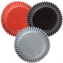 Wilton Baking Cups: Orange/black/gray
