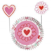 Wilton Heart/flower Combo Set 24 Pc