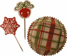 Wilton Plaid Holiday Cupcake Combo Pa