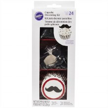 Wilton Cupcake Dec Kit Mustache 48ct