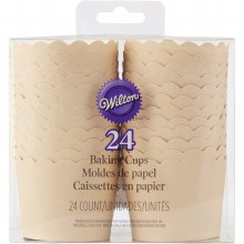 Scallop Kraft Baking Cups