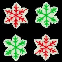 Snowflake Red Green 6pk