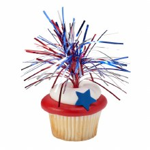 4th July Cupcake Topper 6 Pk