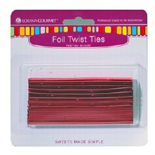 LorAnn Twist Ties: Red 50/pkg