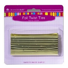 LorAnn Twist Ties: Gold 50/pkg