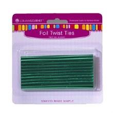 LorAnn Twist Ties: Green 50/pkg