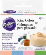 Wilton Pastel 4-icing Color Set