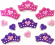 Wilton Crowns & Hearts Icing Decorati