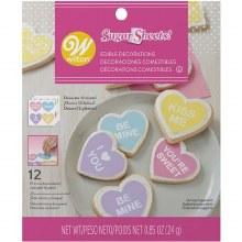 Wilton Conversation Heart Sugar Sheet