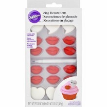 Wilton Val Lips Hearts Dec. Kit