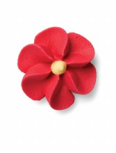 Royal Icing Tiny Red Flower
