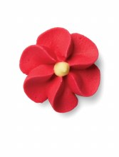 Royal Icing Medium Red Flower