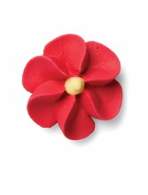Royal Icing Small Red Flower