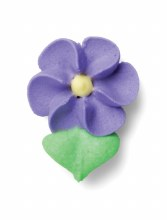 Royal Icing Tiny Violet Flower