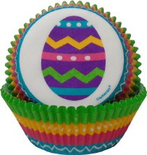 Amscan Baking Cups: Colorful Eggs/75