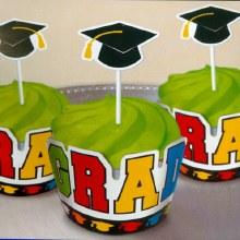 Amscan Graduation Cupcake Wraps