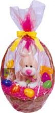 Amscan Rose Color Basket Bags/2