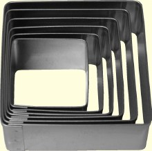 ATECO Square Cutters Plain 6 Pc Set
