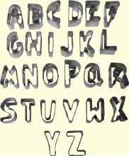 ATECO Alphabet Cutter Set A To Z