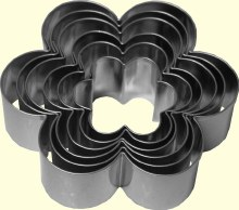 ATECO Daisy Cutters Plain 6 Pc Set