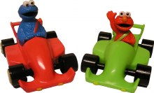 Elmo & Cookie Monster In Race