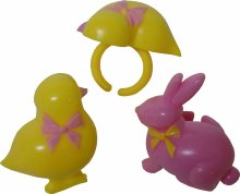 Pink & Yellow Bunny Rings