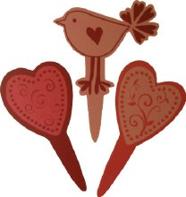 Hearts & Love Bird Picks