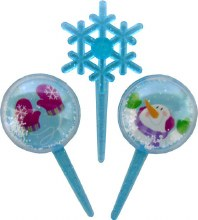 Snow Globe And Snowflake Picks