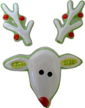 Reindeer Face And Antlers Pop