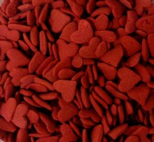 Confetti: Jumbo Red Hearts 10