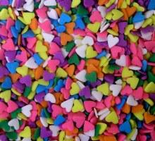 Confetti: Hearts (pastel) 10 O